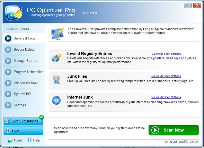 PC Optimizer Pro 6.1.0.7